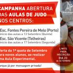 Campanha de Abertura de Aulas de Judo – Porto e Telheiras