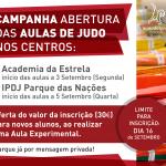 Campanha de Abertura das Aulas de Judo – Academia Estrela e IPDJ Parque das Nações
