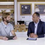 """Nuno Delgado e Ricardo Guedes no programa """"Vamos falar de leite"""""""