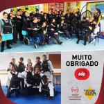Alunos do ensino especial do Externato Grão Vasco recebem material desportivo oferecido pela EDP