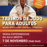 Treinos de Judo para Adultos – Aula Aberta dia 7 de Novembro